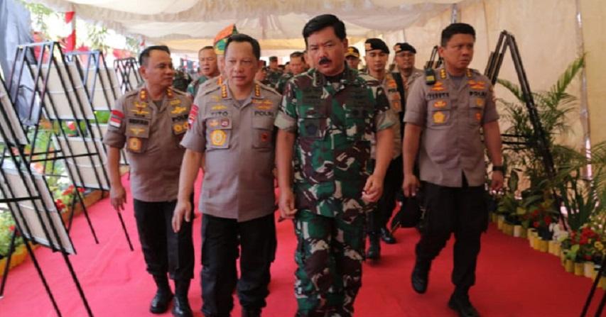 Panglima TNI dan Kapolri Kunjungi Polda Kepri