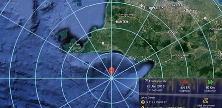 Gempa Besar Landa Dekat Jakarta