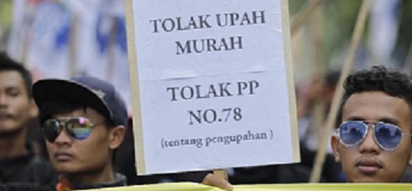 Penetapan UMP Jakarta 2019 Diwarnai Aksi Demo Buruh