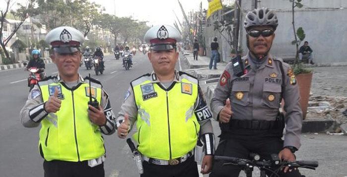 Setiap Pagi  Sore, Kasat Sabara Depok Patroli Sepeda Pantau Lantas