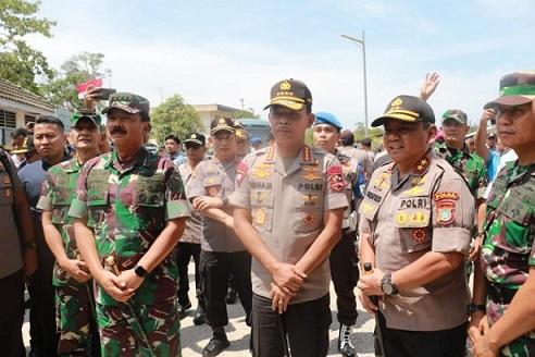 Kapolri dan Panglima TNI Cek Lokasi Pembangunan RS Khusus di Batam