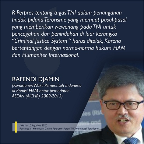 RPerpres Peran TNI Mengatasi Terorisme Contoh Buruk Pemerintah