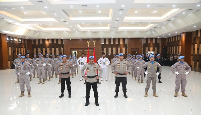 Kapolri Lepas Satgas Garuda Untuk Perdamaian Dunia, ke Sudan & Afrika Tengah
