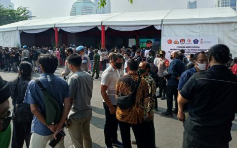 Acara di Mapolda Metro Jaya Terkesan Abaikan Protokol Kesehatan