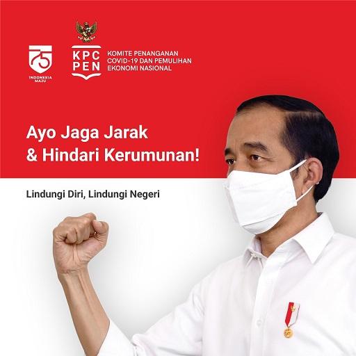 Jumlah Total Positif 225.030 Sembuh 161.065 Meninggal 8.965 Presiden Jokowi : Ingat 5S