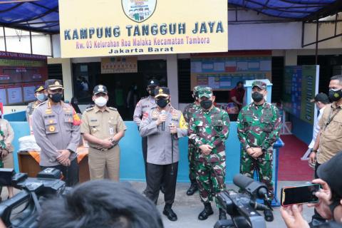 Kapolda Metro dan Pangdam Jaya Kunjungi Kampung Tangguh Tambora dan Penjaringan