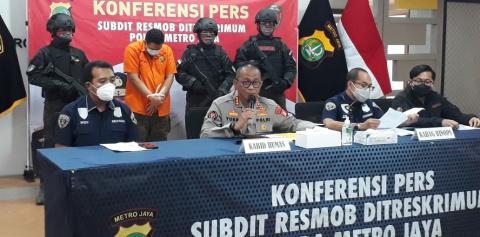 Subdit Resmob Polda Metro Amankan Polisi Desersi