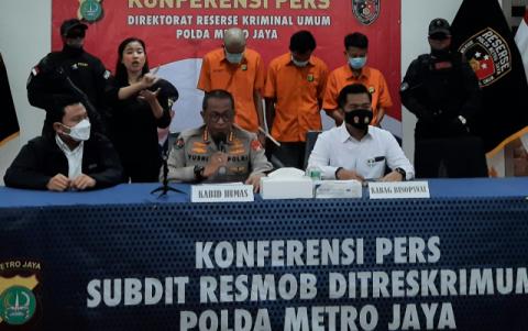 Subdit Resmob Polda Metro Ungkap Curas Berdasarkan Laporan Polisi Oktober Hingga November 2020