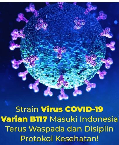 Pemerintah Surveilans Virus B117 Masuk, Total Positif 1.361.098 Sembuh 1.176.356 Meninggal 36.897