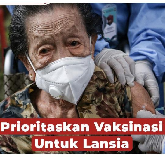 PPKM Diperpanjang Vaksin Lansia Prioritas,Total Positif 1.614.849 Sembuh 1.468.142 Meninggal 43.777