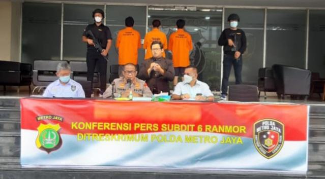 Subdit Ranmor Polda Metro Amankan 4 Pelaku Penggelapan Mobil Yang Diotaki Wanita