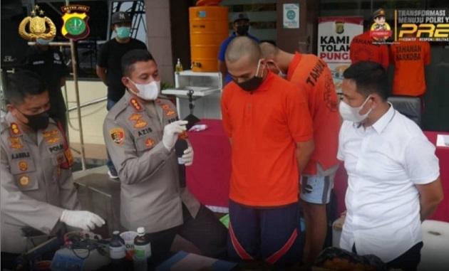 Polres Jaksel Gerebek Rumah Produksi Tembakau Sintesis di Bogor