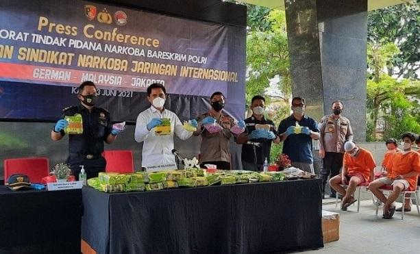 Polri Tangkap 6 Pelaku & 45 Kg Sabu Asal Malaysia
