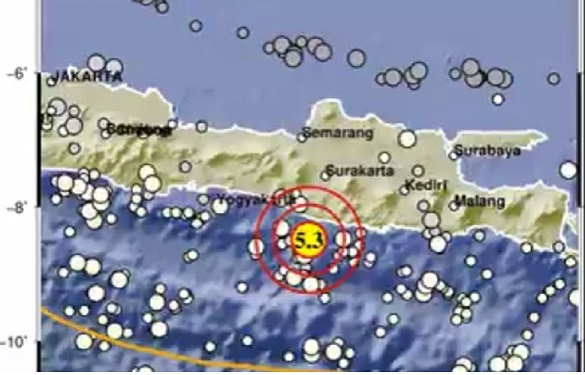 Gempa Gunung Kidul Terasa di 13 Daerah