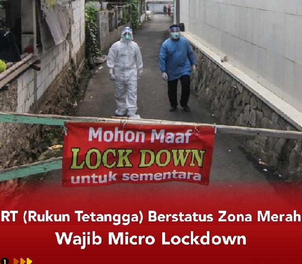Jika Ada 5 Rumah Terpapar Wajib Lockdown,Positif 1.826.527 Sembuh 1.674.479 Meninggal 50.723
