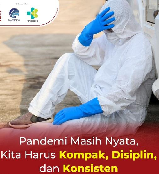 Pandemi Covid Nyata Jangan Lalai Prokes 3M,Positif 2.018.113 Sembuh 1.810.136 Meninggal 55.291