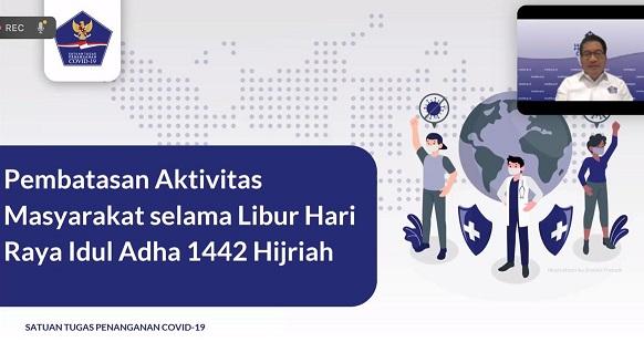 Pembatasan Giat Pada Hari Raya Idul Adha,Positif 2.877.476 Sembuh 2.261.658 Meninggal 73.582