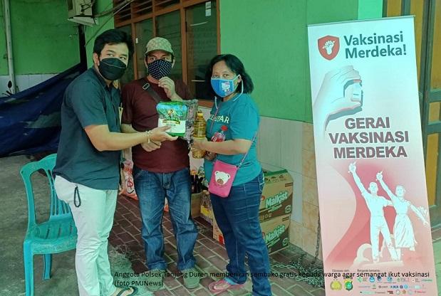 Sembako Gratis Picu Semangat Masyarakat Ikut Vaksin Merdeka