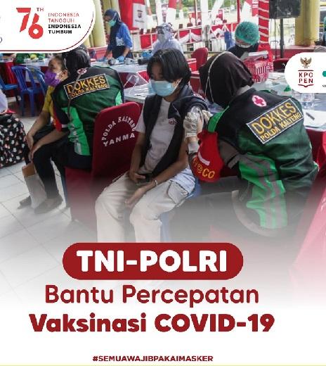 Upaya TNI-Polri Mewujudkan Herd Immunity,Positif 3.908.247 Sembuh 3.443.903 Meninggal 121.141