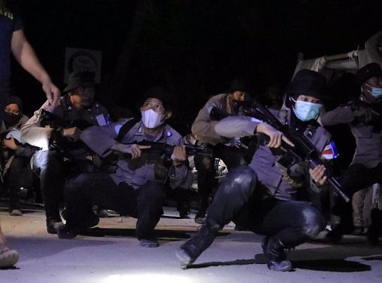 Tengah Malam Camp Garuda Bhayangkara Diserang Mendadak