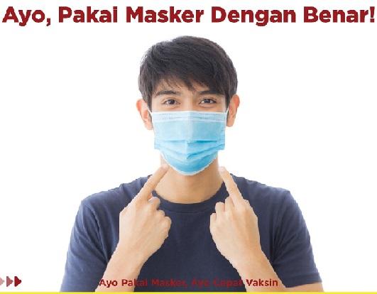 Tetap Pakai Masker & Segera Vaksin, Positif 4.181.309 Sembuh 3.968.152 Meninggal 139.919