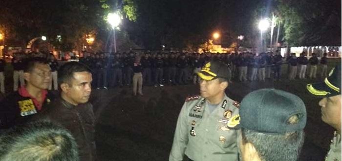 Natal, Ratusan Reserse Polres Tangerang Amankan Kawasan Rawan Kriminal
