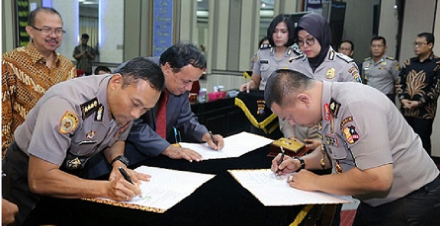 Kapolda Sumut Saksikan MOU Perjanjian Kerjasama Antar STIK-PTIK