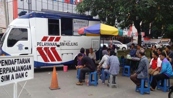 Mobil SIM Keliling di Kalibata Pindah ke Blok M Square