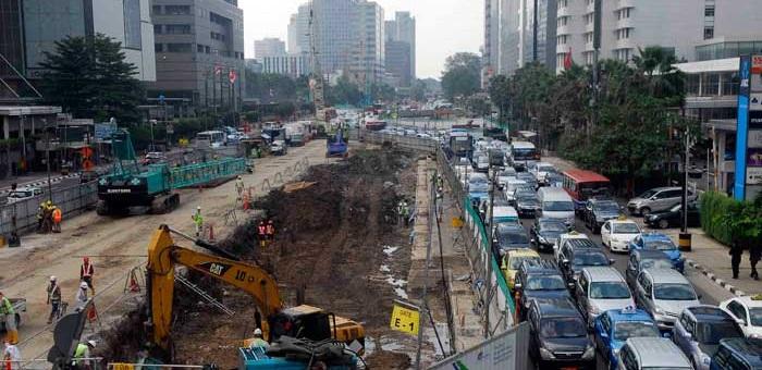 Ditlantas PMJ: 11 Proyek Infrastruktur di Jakarta Bikin Macet