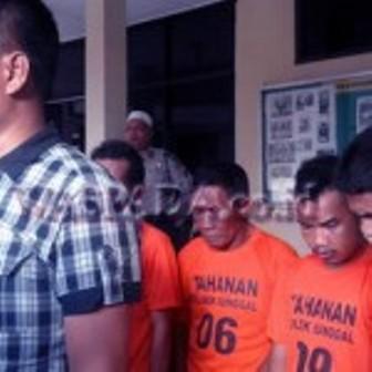 7 Penganiaya Polisi Medan, Diciduk