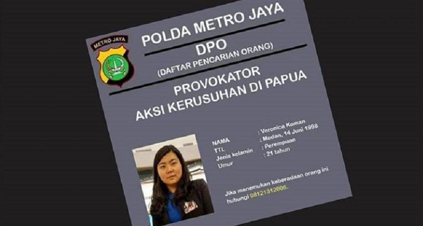 Polda Jatim: Veronica Koman DPO