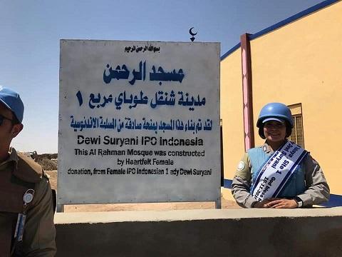 Kisah Polwan Polri Bangun Masjid di Sudan