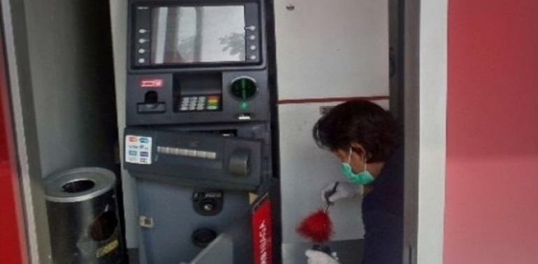Mesin ATM CIMB Jalan Margonda Dibobol Maling