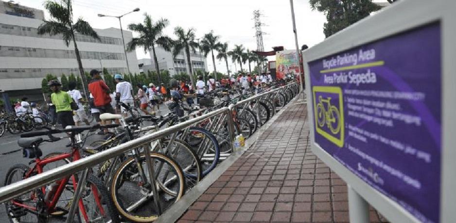 DKI Sediakan Parkir Sepeda di Trotoar Sampai Perkantoran