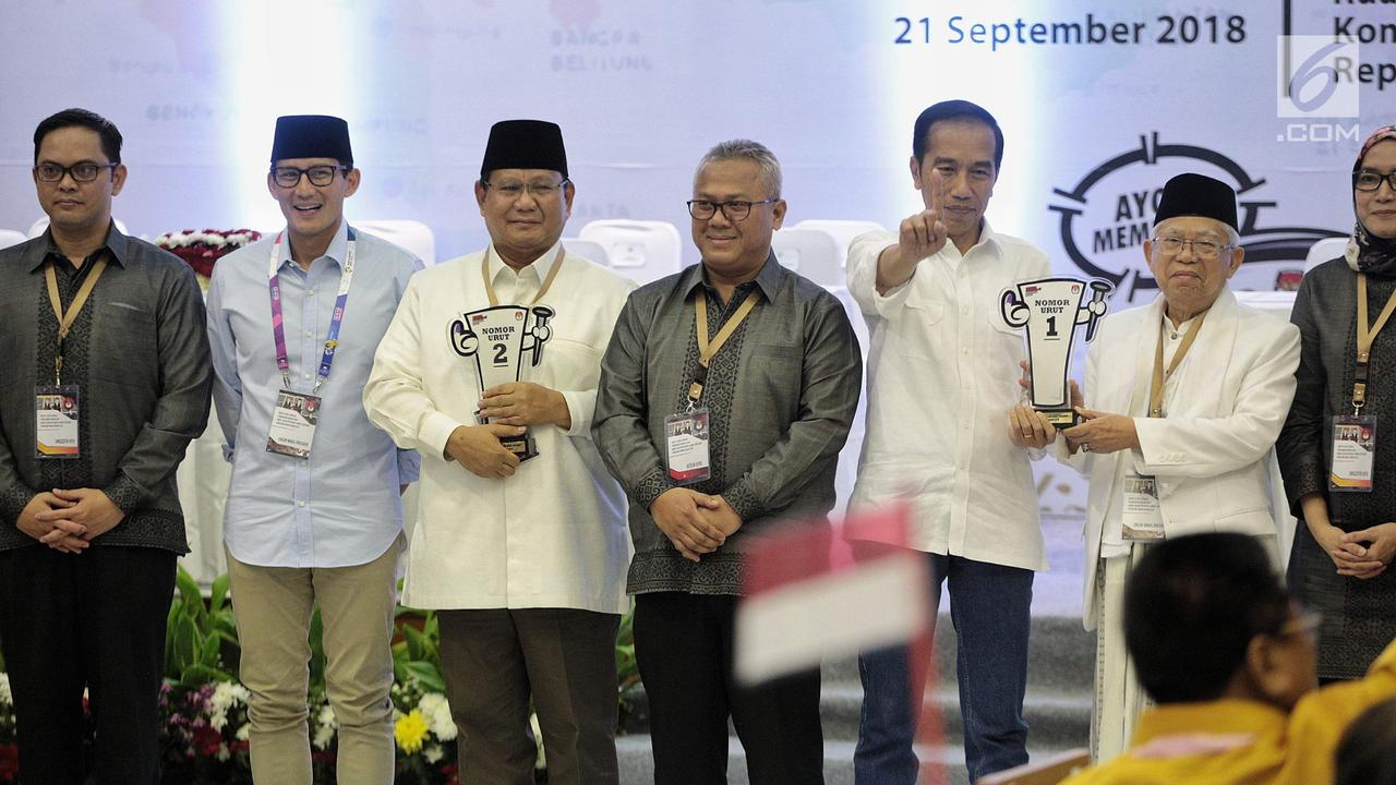Jokowi-Maruf nomor 1, Prabowo-Sandi nomor 2