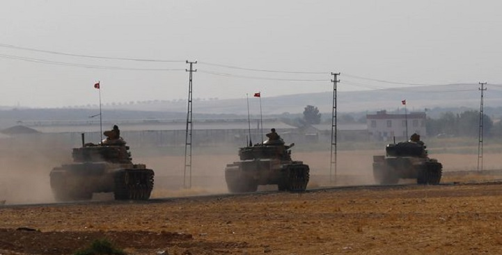 Tentara Turki Memasuki Suriah