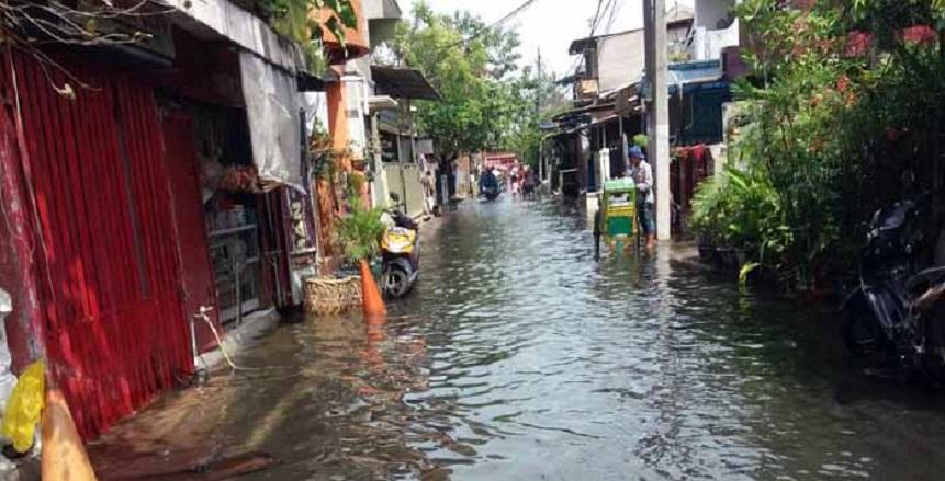 Air Pasang Genangi Dua Wilayah di Cilincing