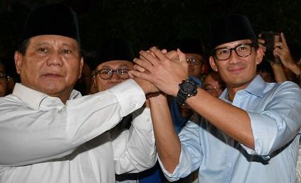 Hasil Survei Terbaru, Prabowo-Sandi 54,3 Persen