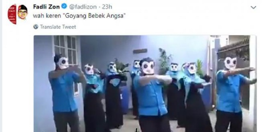 Fadli Zon Pelesetkan Potong Bebek Angsa Langgar UU