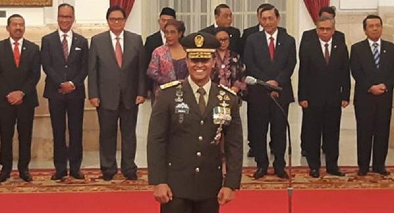 Andika Perkasa Dilantik Presiden Jokowi Jabat KSAD