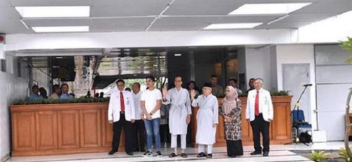 KPU Pantau Pemeriksaan Kesehatan Jokowi-Maruf Amin