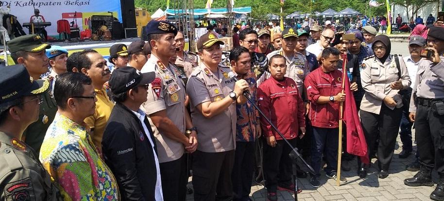 Wakapolda Metro Apresiasi May Day di Bekasi