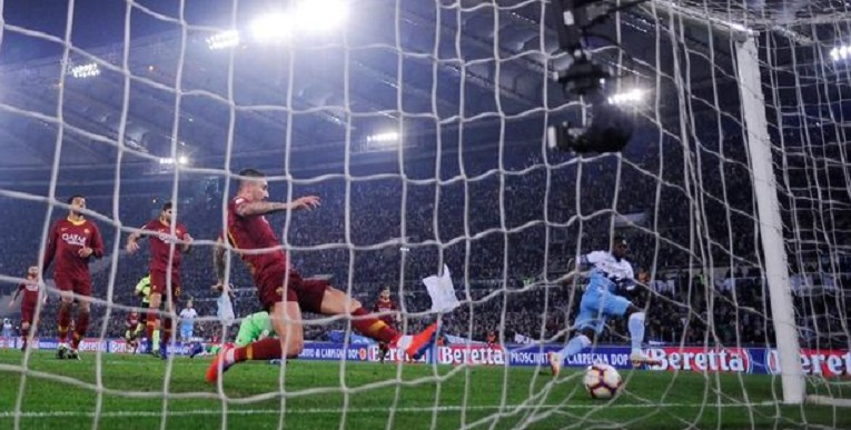 Liga Italia:  Lazio Menang Telak atas AS Roma