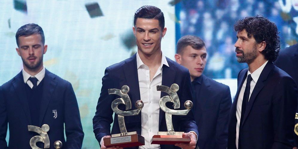 Ronaldo Dinobatkan Pemain Terbaik Liga Italia