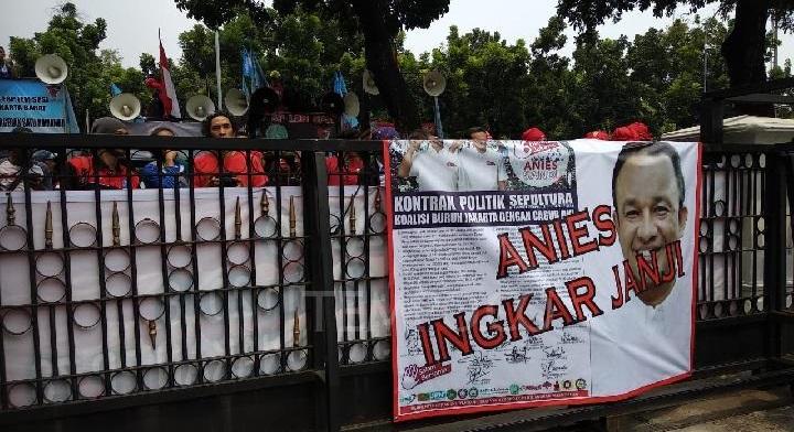 UMP DKI Kalah dengan Bekasi, Buruh Demo Gubernur DKI Anies
