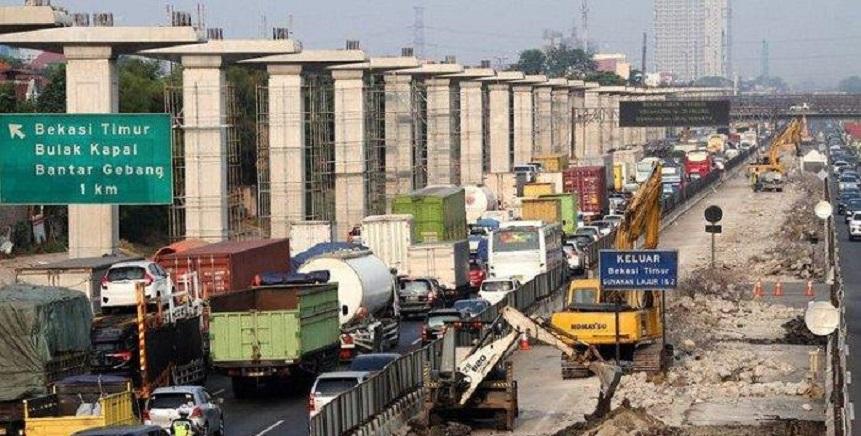 Mudik Lebaran, Pembangunan Tol Layang Cikampek Dihentikan