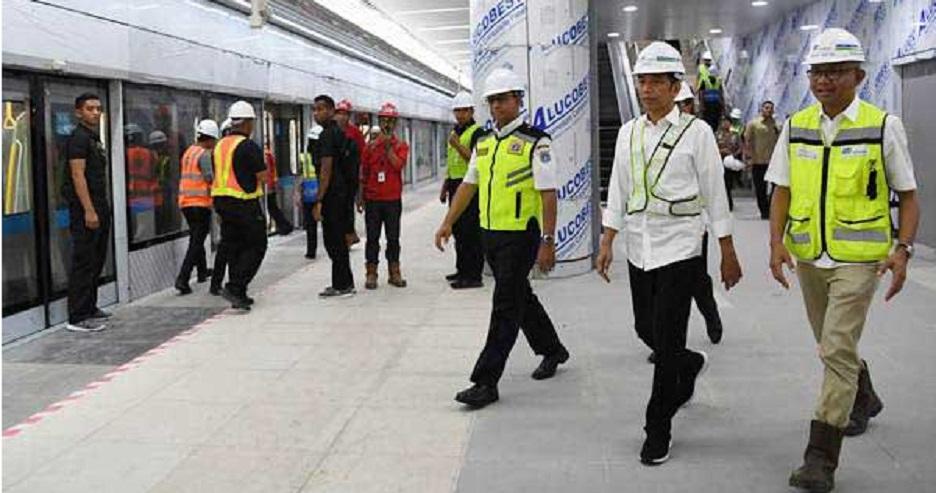 Presiden Jokowi: Proyek MRT Beroperasi Maret 2019