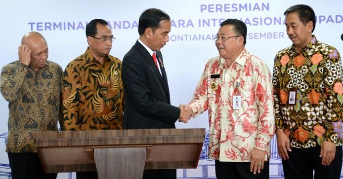 Presiden Resmikan Terminal Baru Bandara Supadio