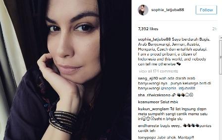 Jubir Ahok, Sophia Latjuba Bangga Sebagai Orang Indonesia