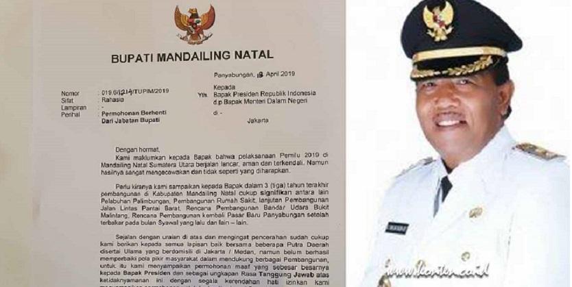 Jokowi Kalah di Madina, Bupati Mengundurkan Diri